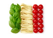 canvas print picture - Tricolore, italian food