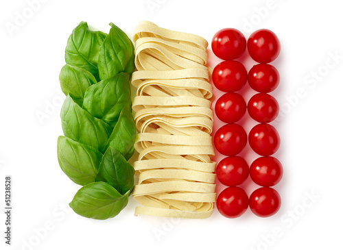 canvas print picture Tricolore, italian food