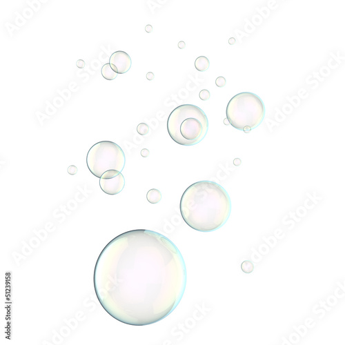 Soap bubbles floating in the air