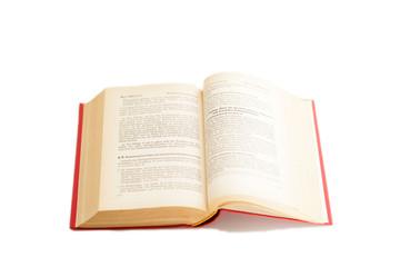 aufgeklapptes Buch