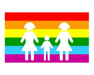 Drapeau Famille Lesbienne