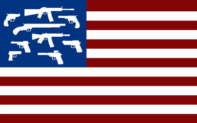 american flag with guns instead of stars