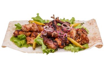 Mix shish kebab