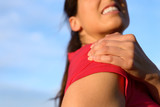 Woman shoulder injury