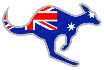 Flag kangaroo