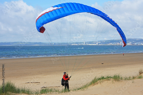 paraglider on Aberavon beach