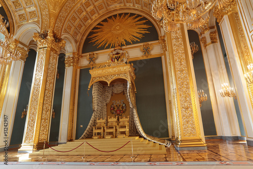 Throne. Grand Kremlin Palace interior