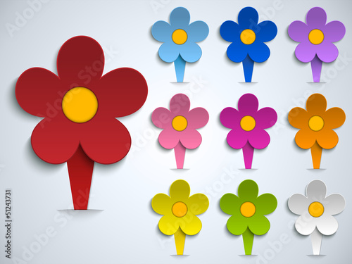 Flower Spring Pin Sticker Icon
