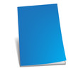 Empty blue  brochure. Vector illustration.