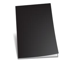 Empty brochure. Vector illustration.