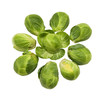 group of healthy brussel sprouts on a white background