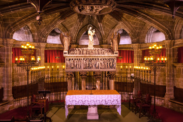 Crypt St Eulalia 4th Century Martyr Catholic Barcelona Cathedral