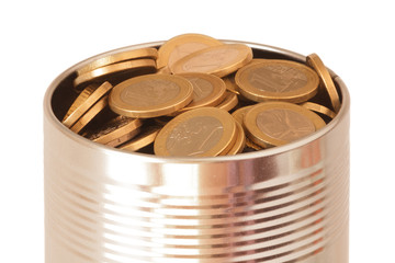 Canned euro coins