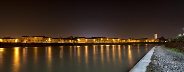 Adige River by Night - Verona Italy