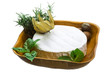 camembert witn herbs, nuts and honey