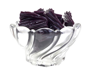 Bowl of black cherry licorice