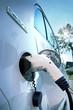 Elektroauto beim Aufladen an Ladestation - Electric Car charging
