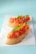 Colourful Italian bruschetta antipasti