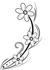 decorazione floreale tatuaggio
