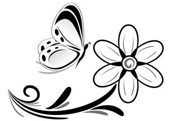 farfallina e margherita tattoo