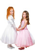 Little girls in nice dresses
