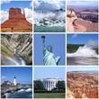 USA landmarks collage