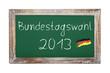 Schultafel - Bundestagswahl 2013 (I)