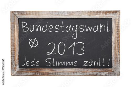 Schultafel - Bundestagswahl 2013 (II)