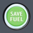 Save Fuel Green Car Start Button Saving Gasoline