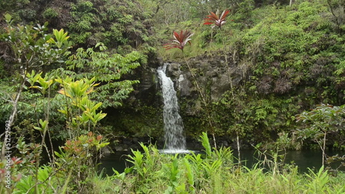 Remote waterfall near Hana, Maui