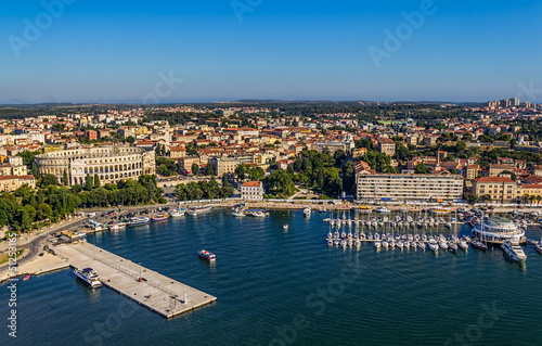 Aerial panorama of Pula