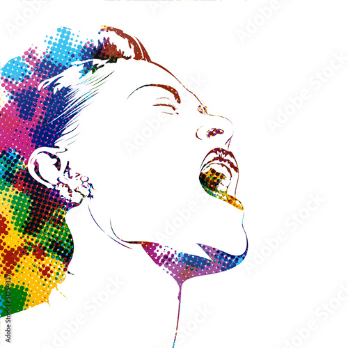 Fototapeten,abbildung,weiblich,profile,kopf