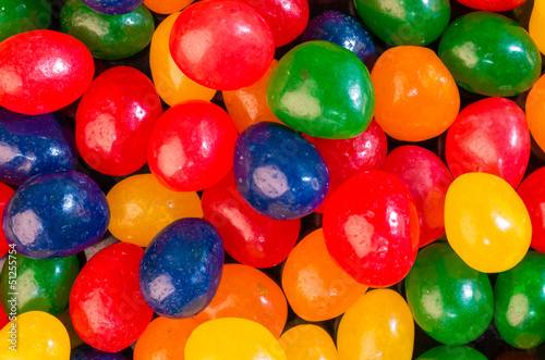 Jelly bean candies ready to eat