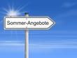 Schild Sonne Sommer Angebot