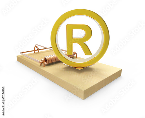 Mousetrap with gold Registered Trademark symbol