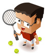 Kid training Tennis