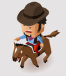 Bandit riding horse