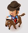 Bandit riding horse