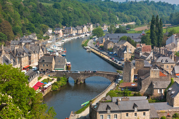 Dinan, Brittany, France - Ancient town on the river
