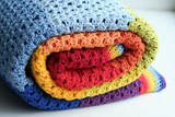 rainbow crocheted blanket