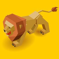 Isometric Lion