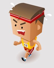 Marathon Player Running