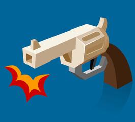 Shooting revolver Bam