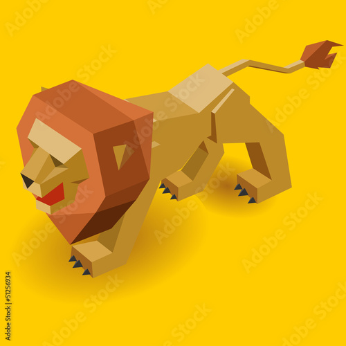 Isometric Lion