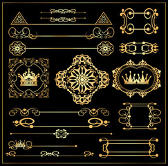 Vector set. Victorian Scrolls. Decorative elements