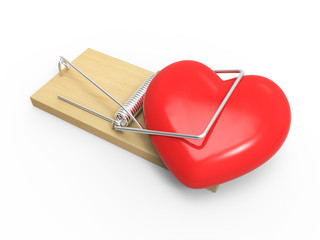 Mousetrap heart trapped