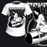 T-Shirt Print Sexy Bomber