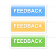 Colorful feedback labels. Vector illustration