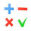 3d checkbox symbols. Vector illustration