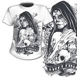T-Shirt Print Heilige Frau